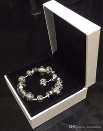 18 19 20 21CM Charm Bracelet 925 banhado a prata pulseiras Pandor Royal Crown acessórios roxo Crystal Bead Diy jóias de casamento com caixa venda por atacado