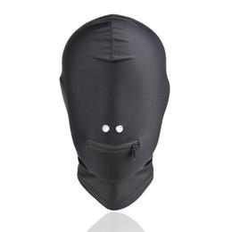 China Fetish Bdsm Bondage Sex Hoods Flexible Head Mask Erotic Play Gear Slave Torture Trainer Adult Sex Toys for Women Black GN312400042 cheap bdsm gear for women suppliers