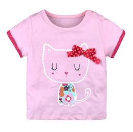 b96a22e19 Girls T-shirt Kids Baby Girls Clothes T-shirt Child Cute Cat Toddler Girl  Tops T-shirts Summer