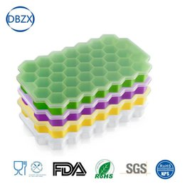 Honeycomb gel online shopping - Silica gel ice lattice Icy lattice silica gel with honeycomb silica gel single ice block ML large ice mold