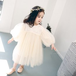 designs baby party gowns Australia - 2018 New Design Spring Summer Autumn Sweet Cute Beautiful Baby Girl White Veil Party Dressing Wedding Dresses
