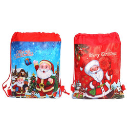 $enCountryForm.capitalKeyWord UK - NoEnName_Null High Quality Merry Christmas Santa Claus Theme Drawstring Gifts Bags Cinch Sack Kids Favors Baby Backpack