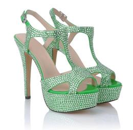 27192e8ac7f New type water diamond wedding shoes high grade hand sticking diamond  waterproof platform heels bride s crystal stilettos Pumps