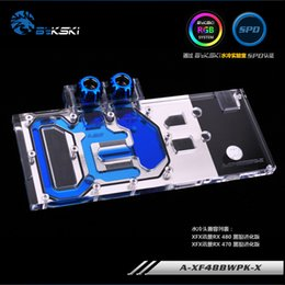 Black Blocks Australia - Bykski Full Cover GPU Water Cooling Block RGB RBW ARUA for XFX RX480 470 Black Wolf Evolution Edition, P N: A-XF48BWPK-X
