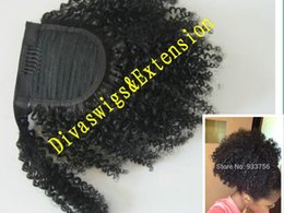 $enCountryForm.capitalKeyWord NZ - New Style Human Hair Kinky Ponytails Hairpieces For American Black Women afro Curly Ponytail Drawstring Clip On Pony Tail Colors Available