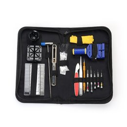 China 16pcs set Luxury Watch Repair Tool Kit Watch Band Holder Case Opening Knife Band Link Pin Remover Sets Herramientas de relojeria cheap case knife kit suppliers