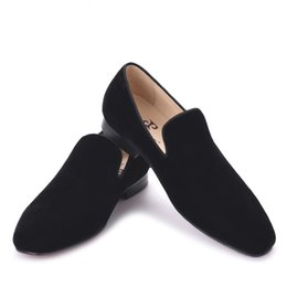 $enCountryForm.capitalKeyWord UK - 2018 new arrival men black velvet handmade flats shoes Fashion wedding and party men dress shoes plus size men loafe
