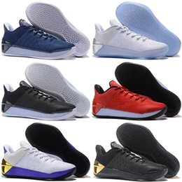 promo code 0f1b6 faea1 2018 New Kobe 12 XII Ad Black Gold homem Men Basketball Shoes Purple Red  White Gray Blue Kobe 12s Elite Low Sport Sneakers