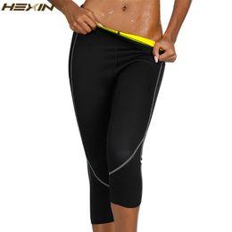 cf0b1d4d108bf HEXIN Neoprene Body Shaper Sauna Sweat Shapewear Breathable Control Tummy  Leggings Women Slimming Pocket Capri Pants