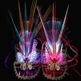 $enCountryForm.capitalKeyWord Australia - Masquerade Female Woman Girl Luminous Princess Mask Light Flashing Party Mask Carnival Wedding Christmas Halloween Navidad