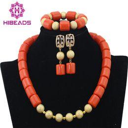 $enCountryForm.capitalKeyWord NZ - 2017 Latest African Coral Laces Jewelry Set Nigerian Wedding African Coral Beads Jewelry Set New Free Shipping CNR347
