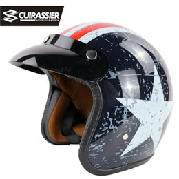$enCountryForm.capitalKeyWord NZ - Cuirassier CH02 Protective Motorcycle Helmets For Half Face Folding Double Visors Quality ABS Road Racing capacete motos casco