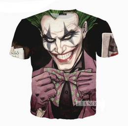 summer painting t shirts UK - DX062 Print 3D Mens Womens Style Anmie Joker Wholesale-Newest Summer Fashion Funny Poker T-Shirt Casual Nsitg
