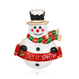 $enCountryForm.capitalKeyWord UK - Christmas Snowman Brooch Alloy Drop Oil Cartoon Jewelry Fashion Gift Dress Accessories Wholesale Coat Corsage Female