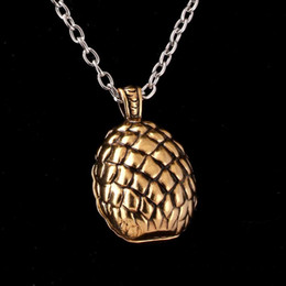 $enCountryForm.capitalKeyWord NZ - game of thrones necklace song of ice and fire dragon egg vintage retro pendant for men and women wholesale a377