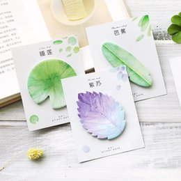 MeMo pad set online shopping - 6 Original collection Leaf sticky note set Post memo pad marker it sticker planner Stationery Office School supplies A6005