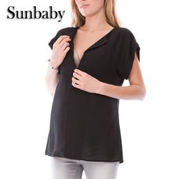 33c940bfe7717 Sunbaby New Fashion Zipper Design Causal Nursing Clothes Summer Short  Sleeve Breastfeeding Clothes for pregnant women