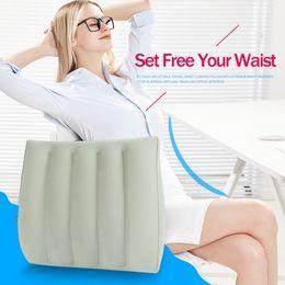 $enCountryForm.capitalKeyWord NZ - wholesale Inflatable Arc Type Travel Waist Cushion Portable Pillow With Storage Bag Business Airplane Train Car Office 35*35*8cm