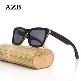 $enCountryForm.capitalKeyWord NZ - AZB 2018 New Products Men Women Sun Glass Square Sunglasses au Retro Vintage Wood Lens Wooden Frame lunette de soleil homme