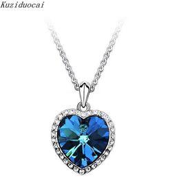 Discount titanic pendant chain - K New Fashion Fine Jewelry Rhinestone Crystal Ocean's Heart Titanic Clavicle chain Necklaces & Pendants For Women N