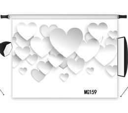 Discount photography backdrops interiors - wholesale vinyl Backdrop Paper-Cuts Loving Heart Interior Decoration Children Photography Background Photo Backgrounds P