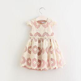 910bb63d7ecc7 2018 nouveaux enfants coréens en mousseline de soie dentelle fleur robe de  soirée princesse bébé fille mouche manches été robes