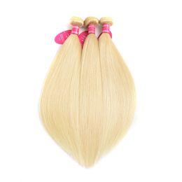 Discount honey blonde hair dye - 613 Blonde Hair Extensions Straight Honey Blonde Hair Weave Bundles 3 Bundles Deal Non Remy Human Hair Bundles 8-26Inch