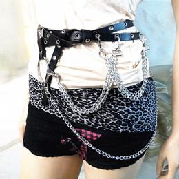 chain bra straps 2019 - 100% Handcrafted Black Party Queen Bra Harness Punk Heavy Duty Top Bondage Leather Choker Chain Link Waist Belt Straps c