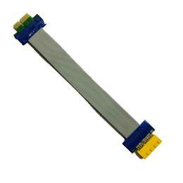 Гибкий слот PCI Express переместить кабель PCI-E 1X до 1x слот Райзер карты Extender расширение ленты pcie кабель для Bitcoin Шахтер на Распродаже