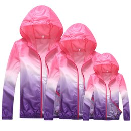 82b97b8f0a2 Family Matching Outfit Sun Protection Clothing Ultra-thin Outdoor Sports  Protective Clothing UV Protection Jacket Kids Clothes
