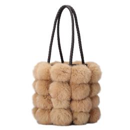 $enCountryForm.capitalKeyWord Australia - Female Winter Bag Real Fur Rabbit Hair Fur Tote Luxury Handbags Women Bags Designer Famous Brands Women Shoulder Messenger bag
