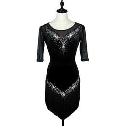 d1b81fb8b Moda nueva borla sexy vestido de rendimiento de la danza latina de alto  grado de baile latino de adultos vestido de niños se pueden personalizar