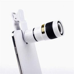 Discount mobile phone camera lens - Long Focus Zoom Camera Lens Far Away High Definition Dark Angle Unniversal Optical Mobile Phone Len External With Eight