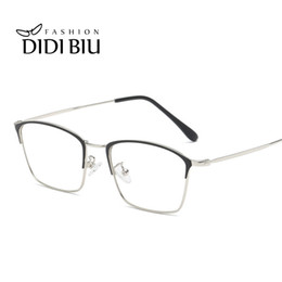 ffbfa37fd3e Discount thin eyeglasses frames - Anti Blue Ray Computer Glasses Women Men  Rectangle Retro Thin Alloy