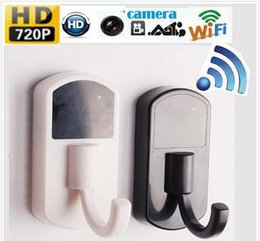 clothes hook wifi camera NZ - GW-15 Wireless 720P MINI WiFi P2P HD Clothes Hook Hanger mini Camera Motion WIFI CAM DVR Recorder Home Security monitor