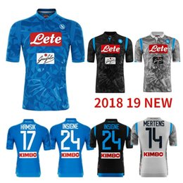 0432568bc 2018 19 Napoli Home Blue Soccer Jersey set 18 19 Naples Away black grey Soccer  Shirt  14 MERTENS  17 HAMSIK  24 INSIGNE Football Jerseys