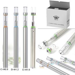 disposable electronic cigarette cartridges 2018 - Disposable Vape Pens BUD D1 Empty Vapes Pen Cartridges Electronic e Cigarettes ecig 310mAh Vaporizer Glass Tip .5ml Cera