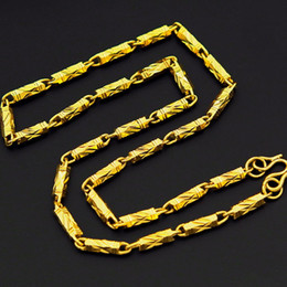 cuban linked chain NZ - n298-50cm Length18K Gold Filled Cool Curb Cuban Link Chain Men Necklace 4.5mm