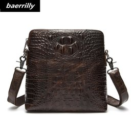 Leather fiLe bags online shopping - Alligator European style Document file cow leather Men Crocodile Messenger Bag Tote Men s Briefcases Office Men Crossbody Bags