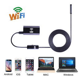 Discount camera 1mp - 1 1.5 2 3.5 5 10m 8mm Lens Wifi Wireless Endoscope 1MP 720P HD Borescope Inspection Tube Pipe Camera for iPhone iOS Andr