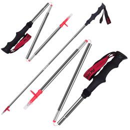 adjustable walking poles 2019 - Maphissus 115cm 125cm Adjustable Folding Ultralight Carbon Fiber Quick Lock s Hiking Pole Walking Running Stick cheap ad