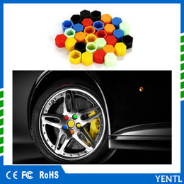 red wheels rims Canada - free shipping yentl 20Pcs lot Car Silicone Luminous Wheel Hub Screw Covers Protector Caps Nut Bolt Rims Siliconel glow rubber Protective