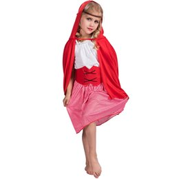 little red riding hood movie costume Canada - Girls Story Book Little Red Riding Hood Kids Fairy Tale Fancy Dress Halloween Costume
