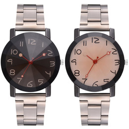 Discount blue pointers - Quartz Wrist Watch with Durable Alloy Strap Simple Style Creative Pointer Watch LL@17