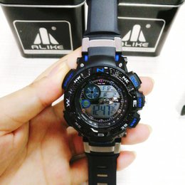Digital Analog Sports Watches NZ - Men's Brand Fahsion Sports Watches Alarm LED Digital Analog Dual Display Wristwatches G Style Shock Stainles Steel Back case Watchese reloj