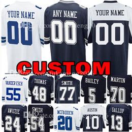 Custom Dallas Jersey Cowboys 12 Roger Staubach 8 Troy Aikman 54 Jaylon  Smith 13 Michael Gallup 10 Ryan Switzer 70 Zack Martin 5 Dan Bailey 81c1f87f6