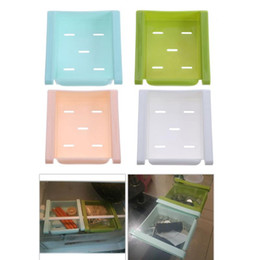 Green Box Containers Australia - Pulling Type Sundries Storage Box Refrigerator Container Desktop Remote Control Small Objects Save Space Keep Fresh Container
