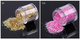 glitter spangles NZ - WRE #12colors (10g Jar)Hot Sale New Colors Acrylic Gel Nail Art Tips Design Nail Art Spangles Decorative Glitter Flake