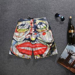 Orange lip online shopping - Man Shorts D Lips Printing Fashion Summer Beach Shorts Mesh Breathable Cotton Pants
