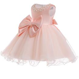 0eeea4762 2018 Baby Girl Dress Vestido de boda infantil para niña Baby First Birthday  Party Ropa para niños 1 año de bautizo 3M